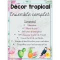 Ensemble décor tropical