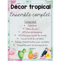 Ensemble décor tropical