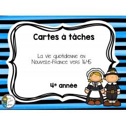 CAT La vie quotidienne en Nouvelle-France en 1645