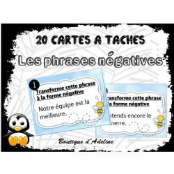 cartes à taches: phrases négatives
