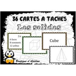 cartes à tâches: les solides