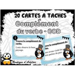 cartes à tâches: complément du verbe COD