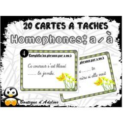 cartes à tâches: homophones a / à