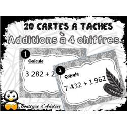 cartes à tâches: Additions à retenues