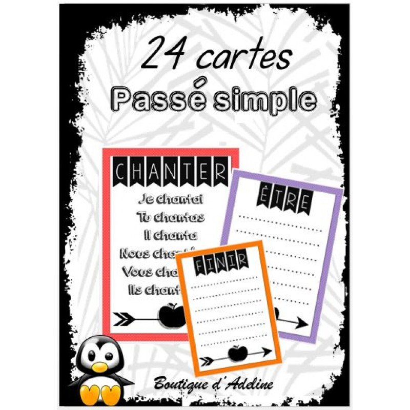 Cartes A Taches Conjuguer Au Passe Simple