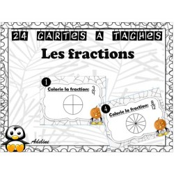 cartes à tâches: fractions
