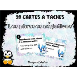 cartes à tâche: phrases négatives