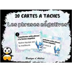 cartes à tâche: phrases négatives