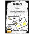 puzzles: tables de multiplications