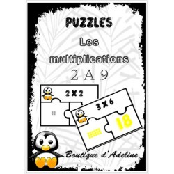 puzzles: tables de multiplications