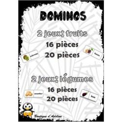 dominos fruits légumes en anglais