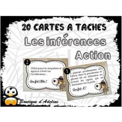 cartes à tâches: lecture: inférences d'action