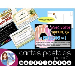 Cartes Postales Positives aux Parents modifiables