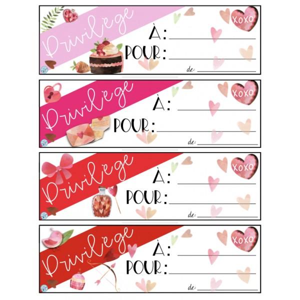 Coupons Privilèges St-Valentin