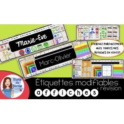 Etiquettes modifiables + Etiquettes de révision