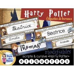 Étiquettes modifiables *Harry Potter*