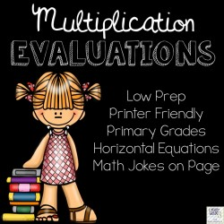 Basic Multiplication Facts Evaluations