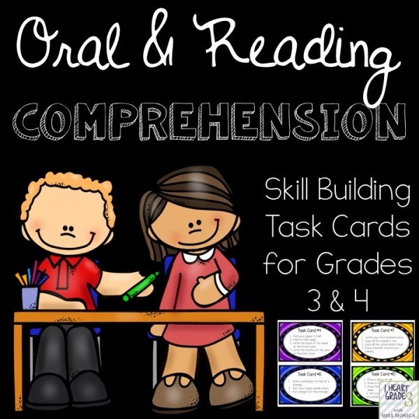 Oral and Reading Skill Building Task Cards