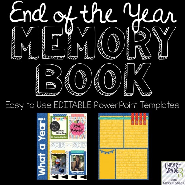 End of the Year EDITABLE Digital Memory Book