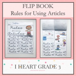 Rules for Using Articles Flip Book