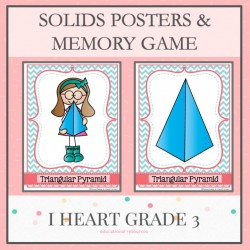 Solids Memory Game and Posters