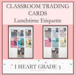 Lunchtime Etiquette Classroom Trading Cards