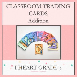 Addition Classroom Trading Cards