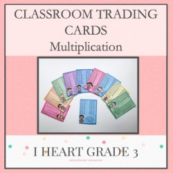 Multiplication Classroom Trading Cards