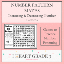 Number Pattern Mazes