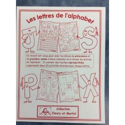 Les lettres de l'alphabet- Feuilles à reproduire