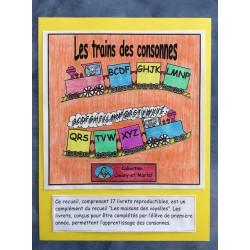 Les trains des consonnes- 17 livrets d'élève