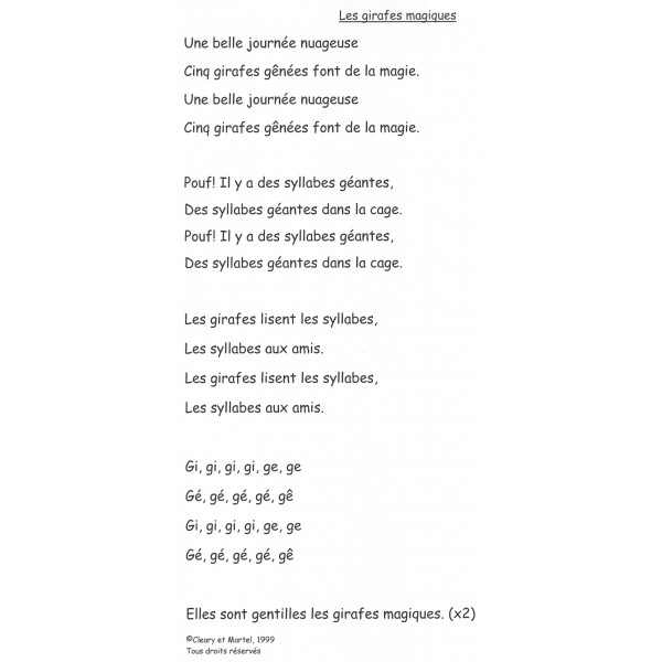 La chanson du G doux