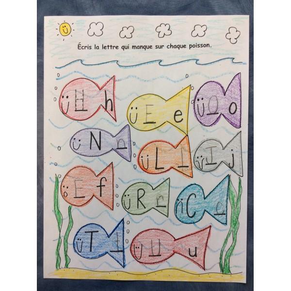 Activité d'élève - L'alphabet