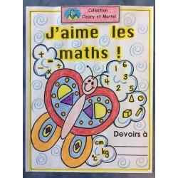 J'aime les maths - Page-titre pour cahier de maths