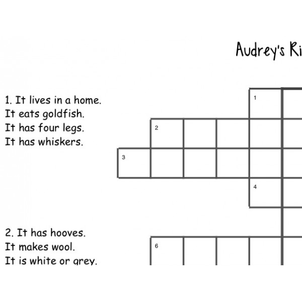 Audrey's riddles