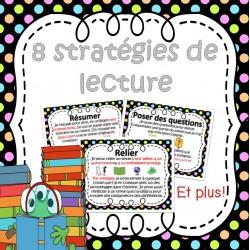Stratégies de lectures (8 affiches)