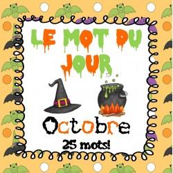 Le mot du jour (octobre) - Édition Halloween