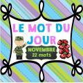 Le mot du jour - novembre (Le jour du souvenir)