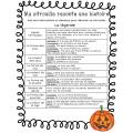 C'est l'Halloween - Activités et vocabulaire