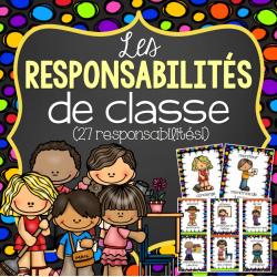 27 tâches et responsabilités de classe