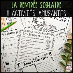 11 ACTIVITÉS POUR LA RENTRÉE SCOLAIRE!