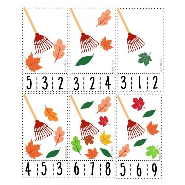 Cartes à pinces - Les feuilles d'automne