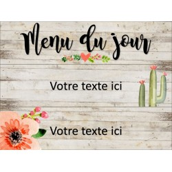 Menu du jour BOHO - Modifable