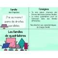 Les familles de quadrilatères