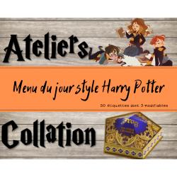 Menu du jour - Harry Potter