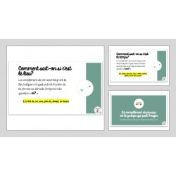 Diapositives - Le complément de phrase