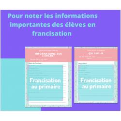 Informations sur les enfants - francisation