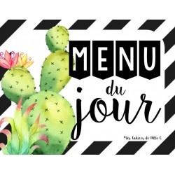 """Menu du jour """"Cactus"""""""