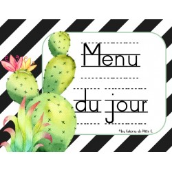 "Menu du Jour ""Cactus"" 1er cycle"