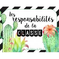 """Responsabilités """"Thème Cactus"""""""